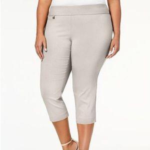 NWT Alfani Plus Size Tummy-Control Capri Pants,